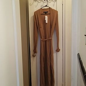 French Connection Open Front Belted Maxi Cardigan